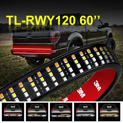 60 Inch Quad-Row LED Truck Tailgate Light Bar Strip Red/White/Yellow Waterproof White Led Tailgate