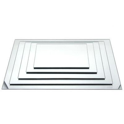 Centerpiece Base (Rectangular Mirror Glass Base)