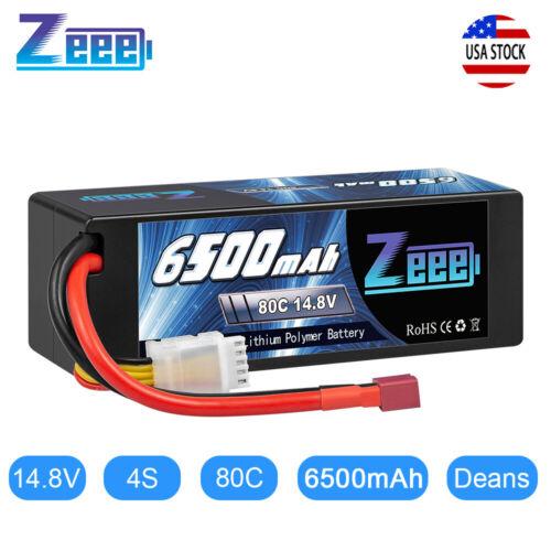 Zeee 6500mAh 4S 14.8V 80C Hardcase LiPo Battery Deans Plug f