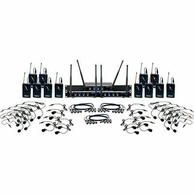 VocoPro Digital-Play-12 Wireless Headset/Lapel Mic System 902-928 MHz Black Digital Headset Wireless Mic System