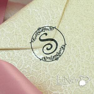 90 270pcs Black Monogram Initial Wedding Invitation Envelope Seal Sticker Decor