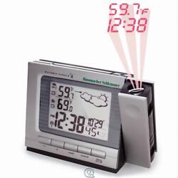 Projection Alarm Clock & Weather Monitor Large LCD Screen & Numbers AC/Battery