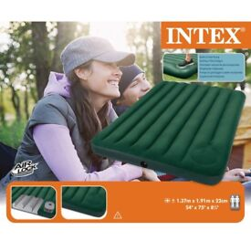 Intex - Downy Double Air Bed with Foot Pump - Used TWICE