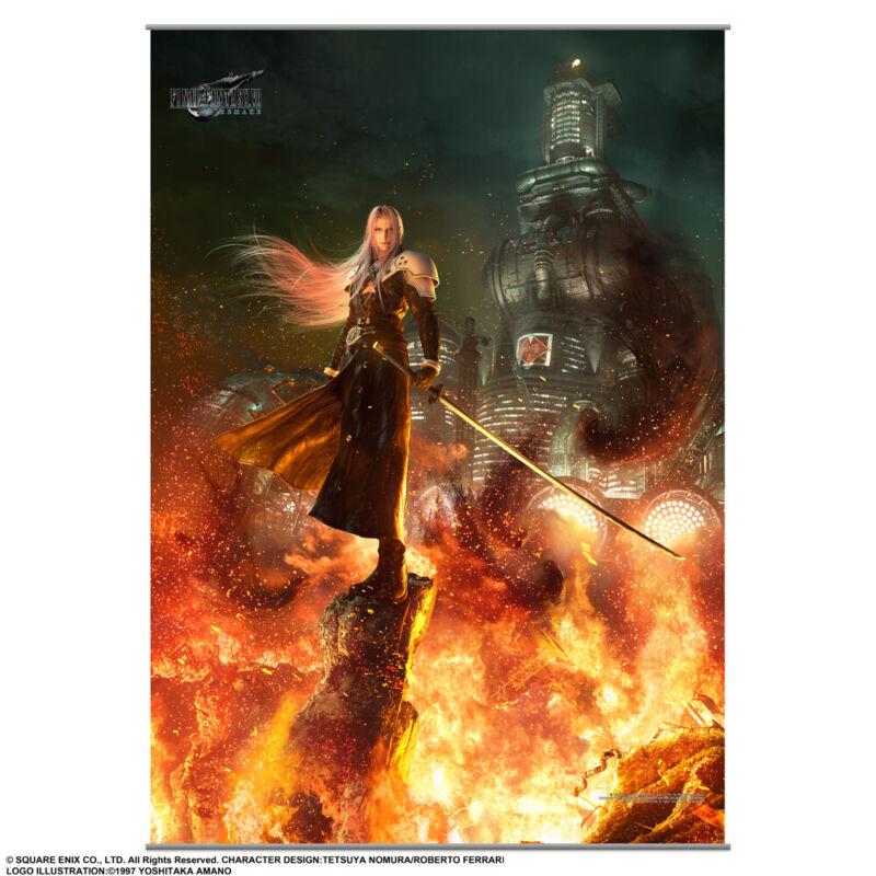 Final Fantasy VII 7 Remake Wall Scroll Vol 2 Square Enix *LEGIT*