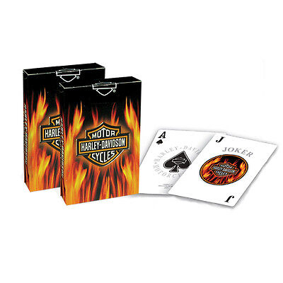 Harley-Davidson® Flaming Bar & Shield Collectible Deck of Playing Cards 610D