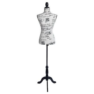 Female Mannequin Torso Dress Form Display Tripod Stand Half-length Lady Model