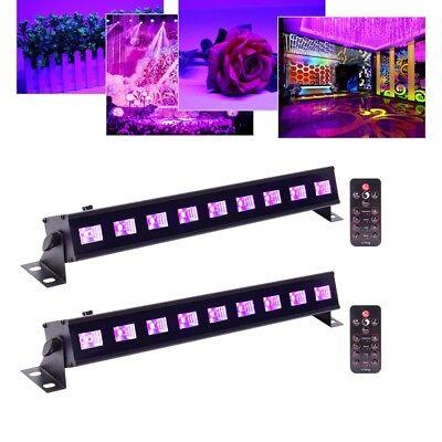 2PCS 9x 3W LED UV Black stage Light DMX512 Purple light Party DJ Bar Home - Black Light Decor