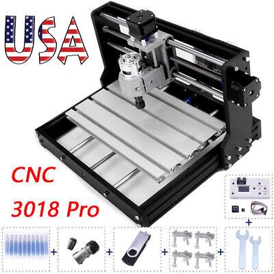 Cnc 3018 Pro Diy Cnc Router Machine 3 Axis Milling Cutter W Offline Controller