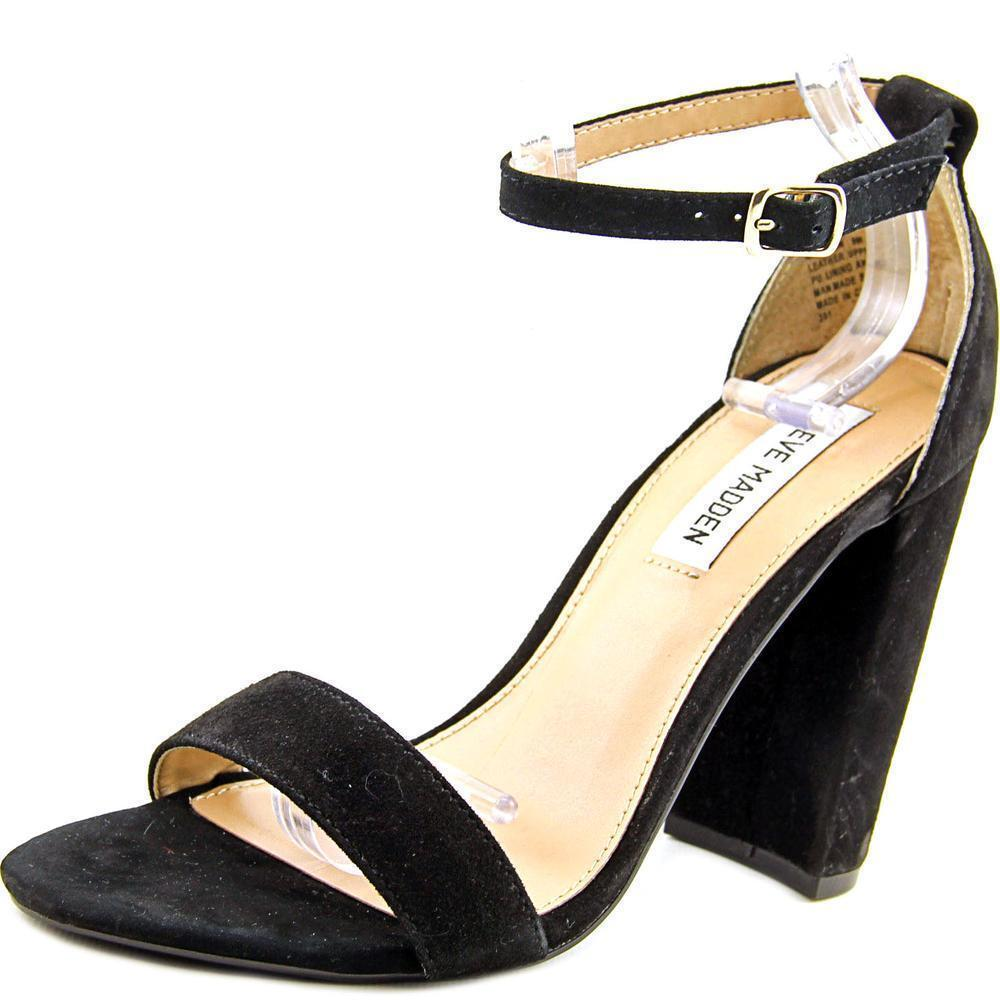 ad792b996bb Steve Madden Carrson Women US 8 Black HEELS Pre Owned Blemish 1874 ...