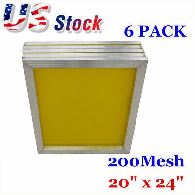 Us Stock 6pack 20 X 24 Aluminum Frame Silk Screen Printing Screens 200 Mesh