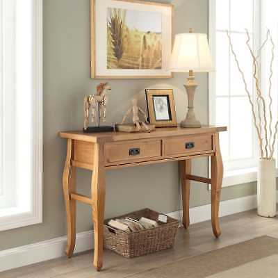 Console Style Sofa Table Wood Antique Brown Finish Living Room Furniture - Living Room Wood Finish Sofa Table