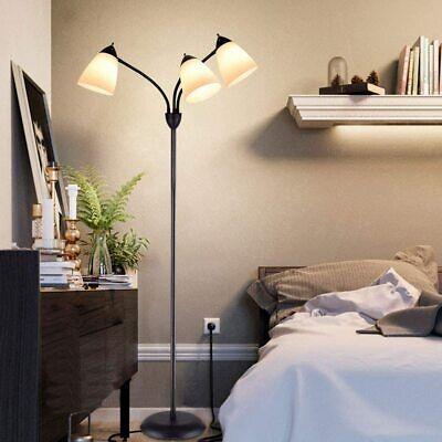 Modern Standing Floor Lamp 3-Lights Adjustable LED Reading Light for Living Room