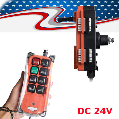 Radio Remote Control Transmitter - Transmitter&Receiver Hoist Crane Radio Industrial Wireless Remote Control 24V CE