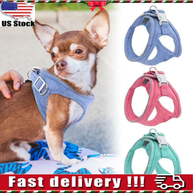 Dog Harness Reflective Padded Small Pet Cat Puppy Soft Vest Chihuahua Bulldog BJ