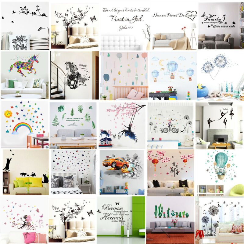 Wall Stickers Quote Vinyl Transfer Decal Decor Interior Home