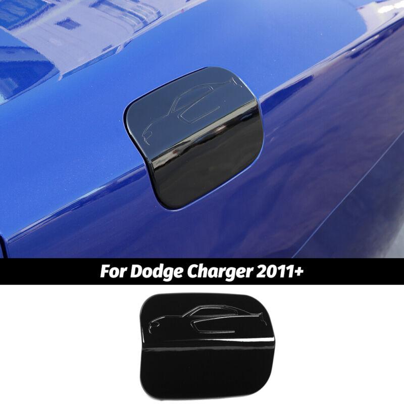 Black Door Fuel Tank Gas Cap Decor Cover Trim For Dodge Charger 11+ Accessories
