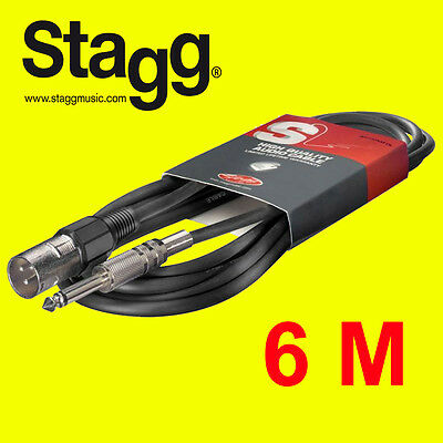 Stagg SAC6PXMDL S. Series 6mm Audio to XLR 6m Cable for Stage Musician - New