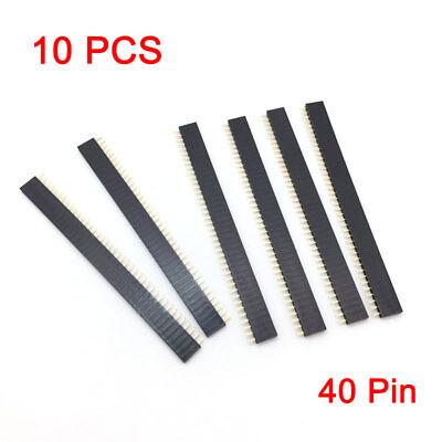 10 PCS 40Pin RM2.54mm Female Buchsenleiste Steckerleiste Einreihig Neu 2 Pin Stecker