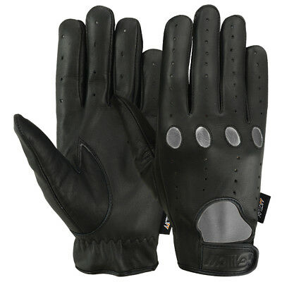 Ladies Leather Driving Gloves - New Womens Driving Gloves Ladies Bikers Cycling MRX Brand Leather Finger Black
