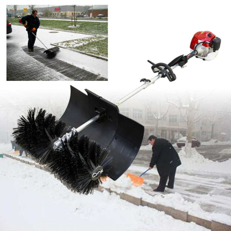 2 Stroke 52cc Gas Power Sweeper Hand Held Broom Cleaning Driveway Turf Grass hot