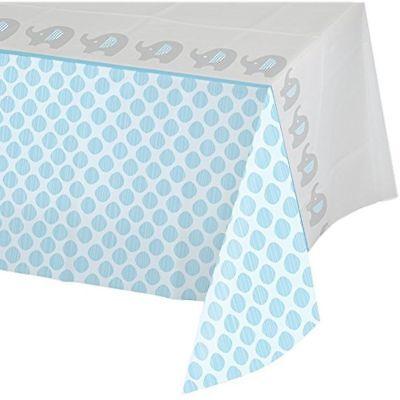 Little Peanut Boy Baby Shower Plastic Tablecloth Wild Safari; Elephant Theme (Wild Safari Baby Shower Theme)