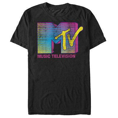 Mtv Stripe Logo Mens Graphic T Shirt
