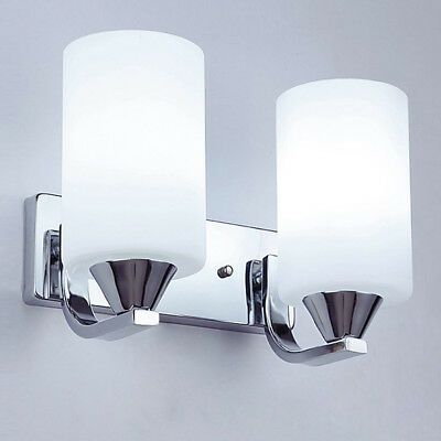 Modern Cylinder Glass Wall Light Sconce Lighting Lamp Fixture Bedroom Home Decor ()