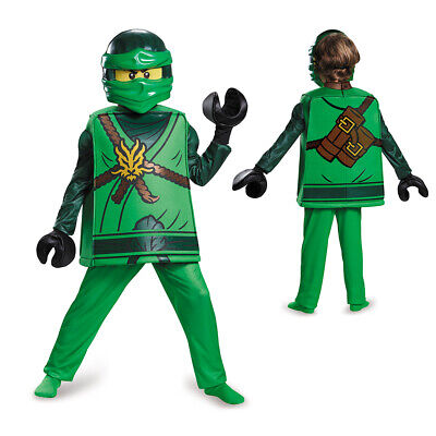 Boys LEGO Ninjago Deluxe Lloyd Halloween Costume - Green Ninjago Halloween Costumes
