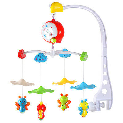 Baby Cot Bell Crib Mobile Rattle Bed Hanging Complete Set Holder Musical Toy UK