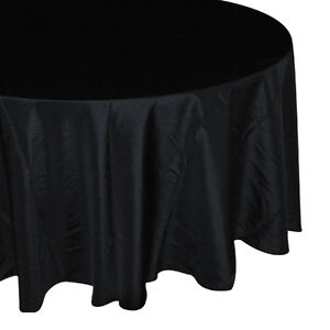 Round Seamless Fabric Tablecloths For Wedding Restaurant Banquet Party Reception