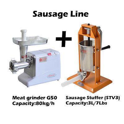 Hakka 3l7lb 5-7 Pound Sausage Stuffer And 12 Powerful Meat Grinder G50st-v3