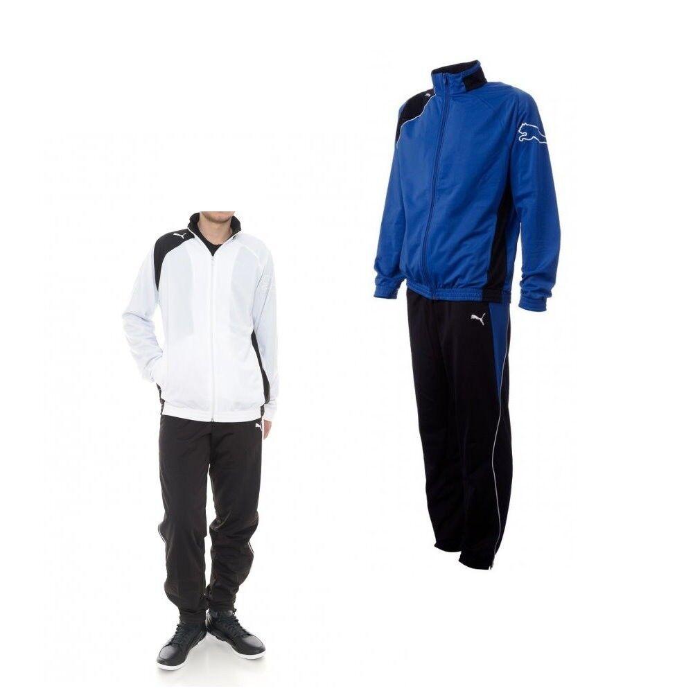 Puma United Poly Suit Kinder Trainingsanzug Jogginganzug Sportanzug Jungen blau