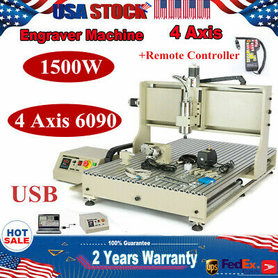 1.5kw Usb 4 Axis 6090 Cnc Router Engraving Carving Mill Machine Controller Rc