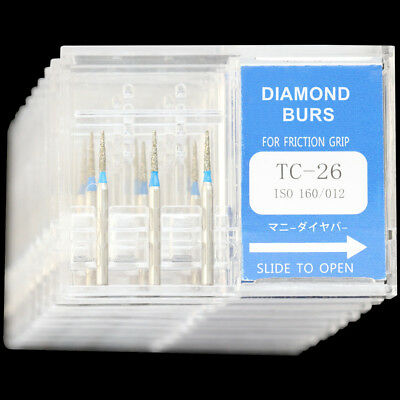 10boxes Tc-26 Mani Dia-burs Dental High Speed Handpiece Diamond Burs Tooth Drill