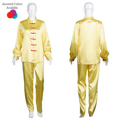 18 Color Women Chinese Traditional Kung Fu Satin Uniform Halloween Cosplay - Tradition Halloween Costumes