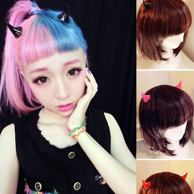 Japanese Harajuku Halloween Stereo Devil Horns Ears Clips Hairpin Hair Jewelry - Devil Horn Clips