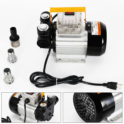 Cast Iron Fuel Transfer Pump Continuous Duty Cycle 110v Oil Diesel Gas Gasoline