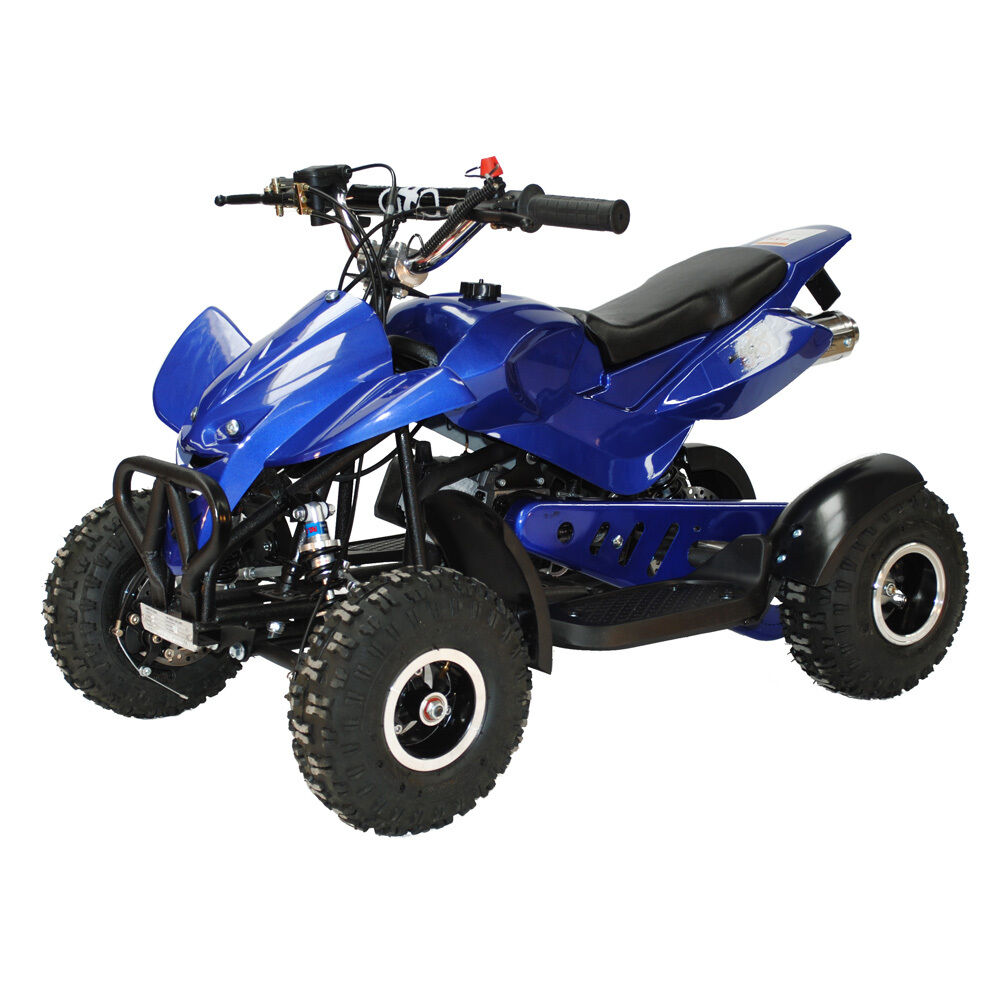 mini quad bike 49cc twin exhaust mini moto quadard 50cc brand new pocket atv limited time offer. Black Bedroom Furniture Sets. Home Design Ideas