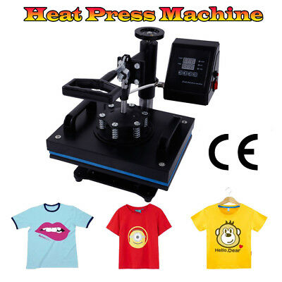 12 X 10 Dual Digital Heat Press Machine T-shirt Sublimation Printer Transfer