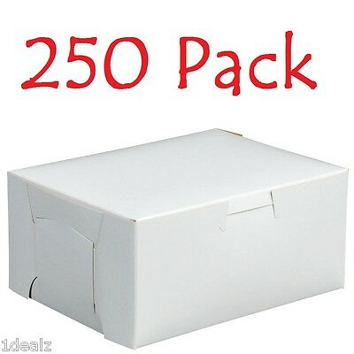 250 Bakery Cookie Pastry Box 6 X 4 12 X 2 34 White Made In Usa Bundle Pack