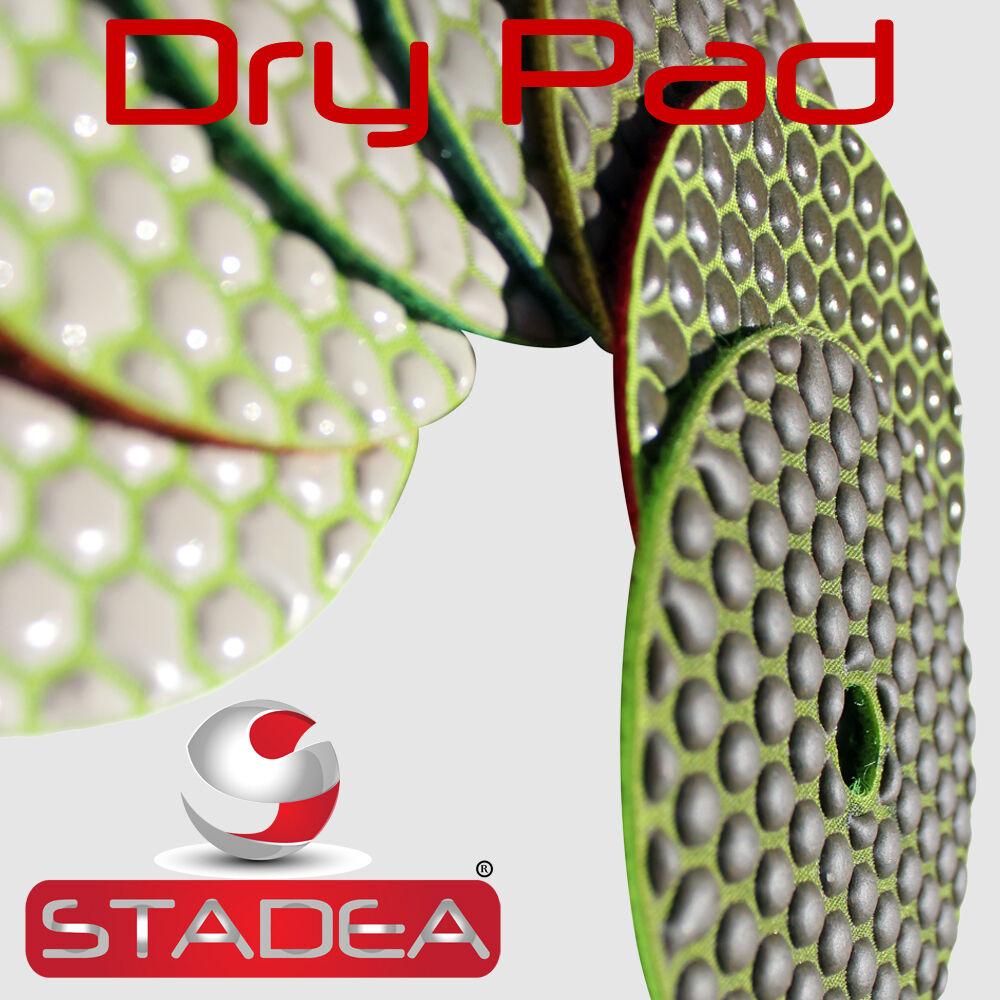 """Diamond Hand Polishing 7 Pad 4/"""" 100mm DRY Polishing 7+1 Pad Granite Glass marble"""