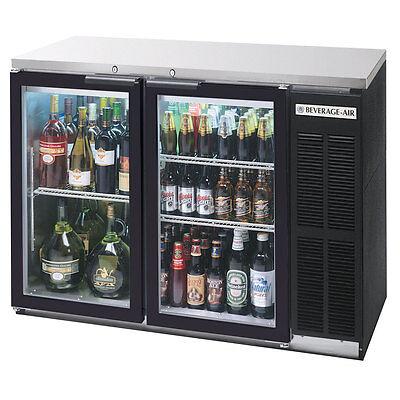Beverage-air 48 Two-section Glass Door Backbar Storage Cabinet Black