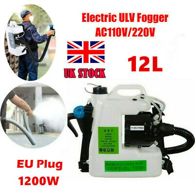 12L Electric Backpack ULV Sprayer Fogger Cold Fogging Machine Disinfection1200W