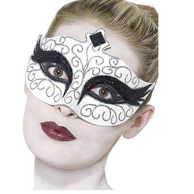 Women's Black Swan Fancy Dress Eye Mask Gothic Halloween Masquerade Ball Hen Fun ()