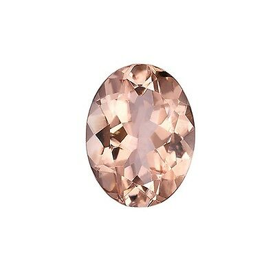 2.40ct 10x8mm Natural Oval Brilliant Cut Morganite Loose Gemstones