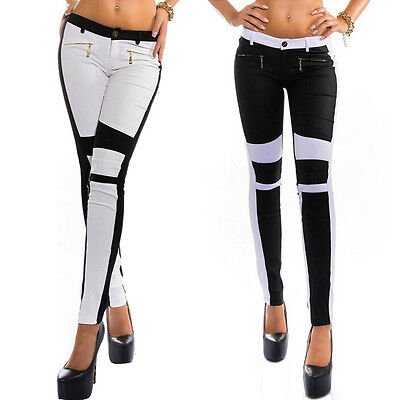 Women Cotton Jeans Skinny Stretchy Straight Zipper Slim Tights Casual Long Pants