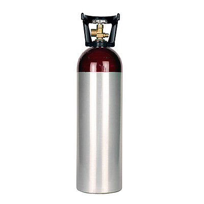 60 Cu Ft New Aluminum Argon Cylinder Cga580 Valve - Welding - New - With Handle