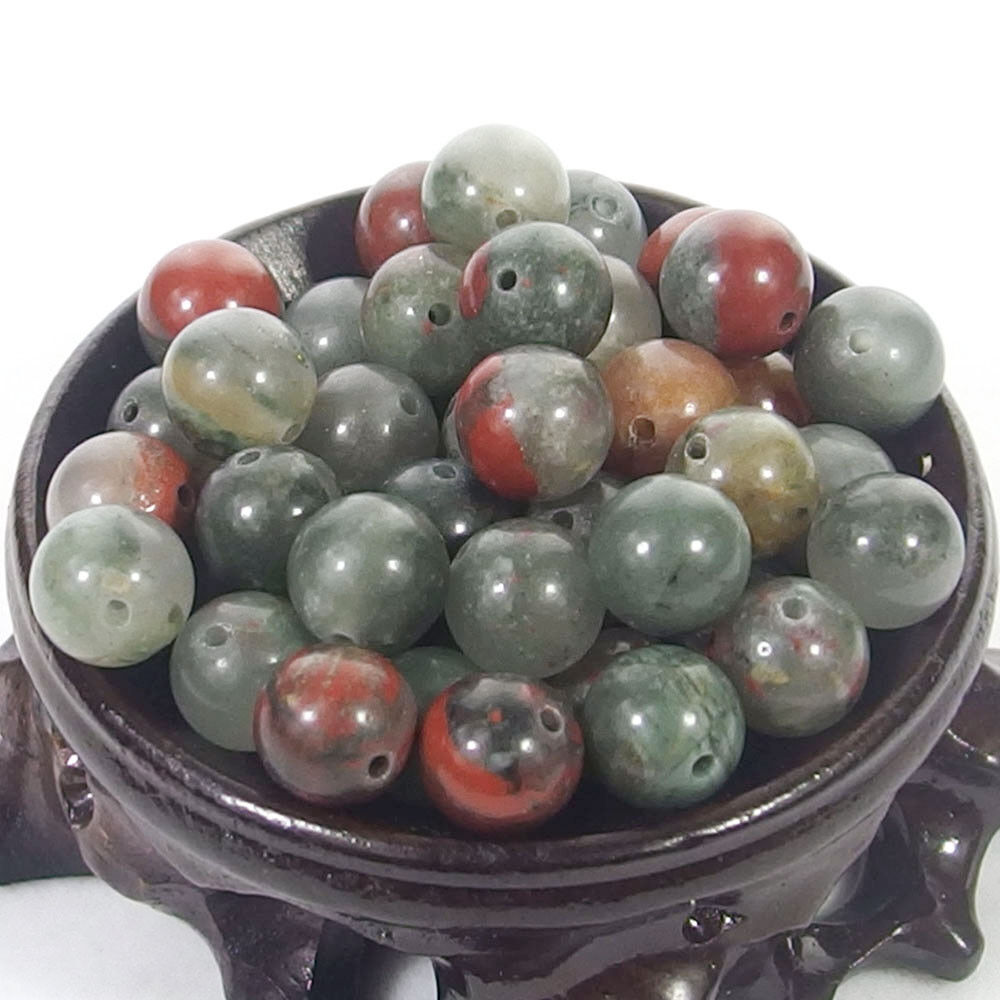 Bulk Gemstones I natural spacer stone beads 4mm 6mm 8mm 10mm 12mm jewelry design chiken blood jasper