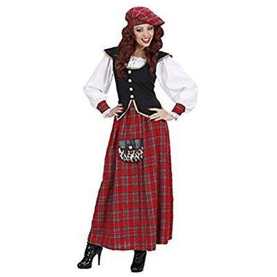 Ladies Scottish Lass Heavy Fab Costume Large Uk 14-16 For Scotland Fancy Dress