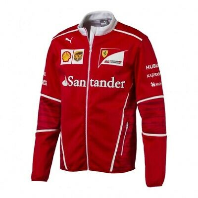 JACKET Soft Shell Mens Coat Fleece Scuderia Ferrari Formula One F1 2017 New! S
